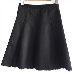 DKNYC Black Pleated A-Line Tulle Trim Skirt Small